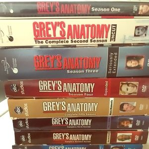 Greys anatomy seasons one through nine.  Mint💎🔮